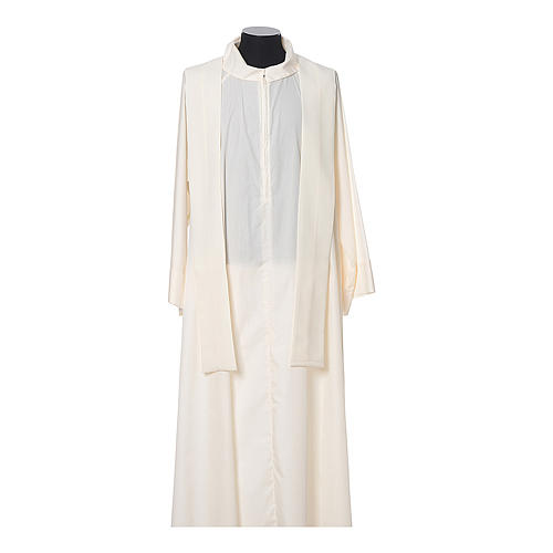 Chasuble in polyester with JHS, cross and wheat embroidery 8