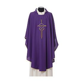 Chasuble 100% polyester IHS croix épis s5