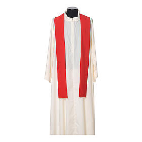Chasuble in polyester with JHS, cross and wheat embroidery s10