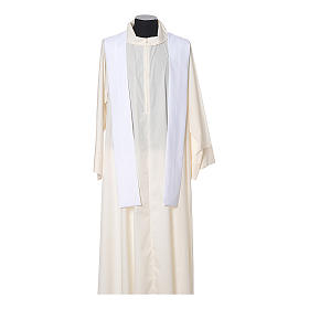 Chasuble in polyester with JHS, cross and wheat embroidery s11