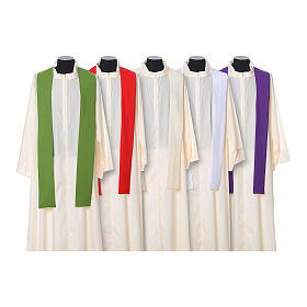 Chasuble in polyester with JHS, cross and wheat embroidery s12