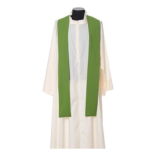 Chasuble in polyester with JHS, cross and wheat embroidery 7