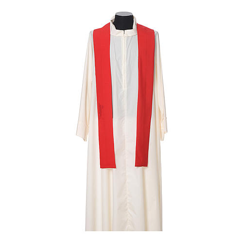 Chasuble in polyester with JHS, cross and wheat embroidery 10