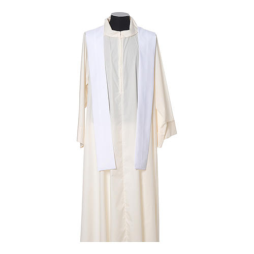 Chasuble in polyester with JHS, cross and wheat embroidery 11