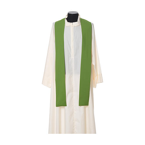 IHS Chasuble with cross and wheat embroidery in polyester 7