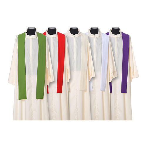 Chasuble in polyester with JHS, cross and wheat embroidery 12