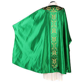 Medieval Chasuble in pure silk with floral embroidery on orphrey s7