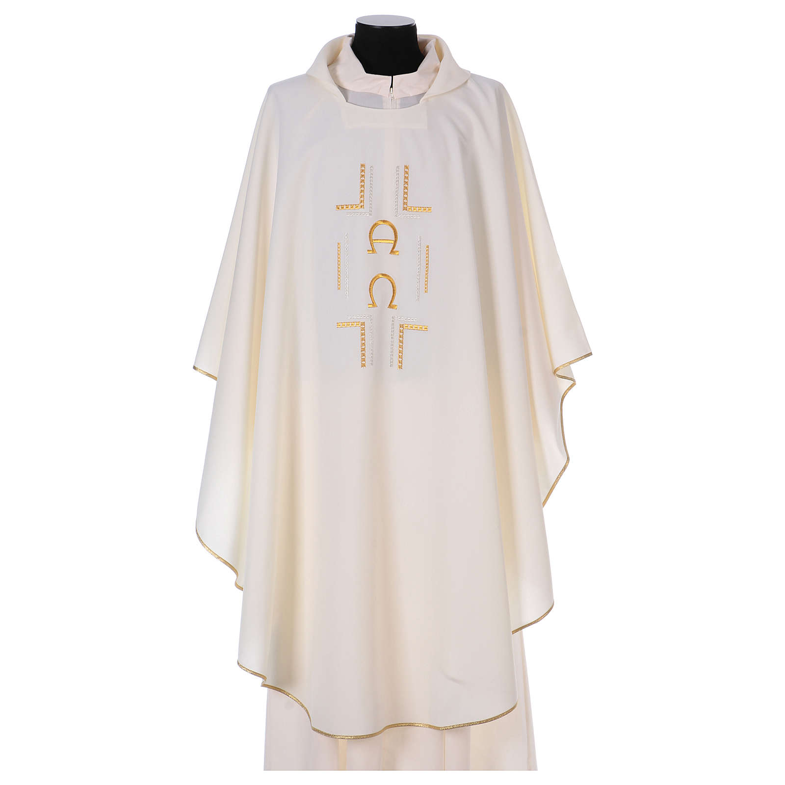 Chasuble in polyester with Alpha Omega symbol 4