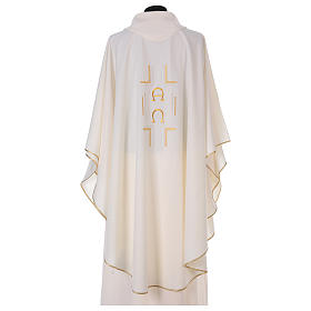 Chasuble in polyester with Alpha Omega symbol s3