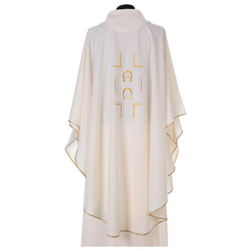 Chasuble in polyester with Alpha Omega symbol 3