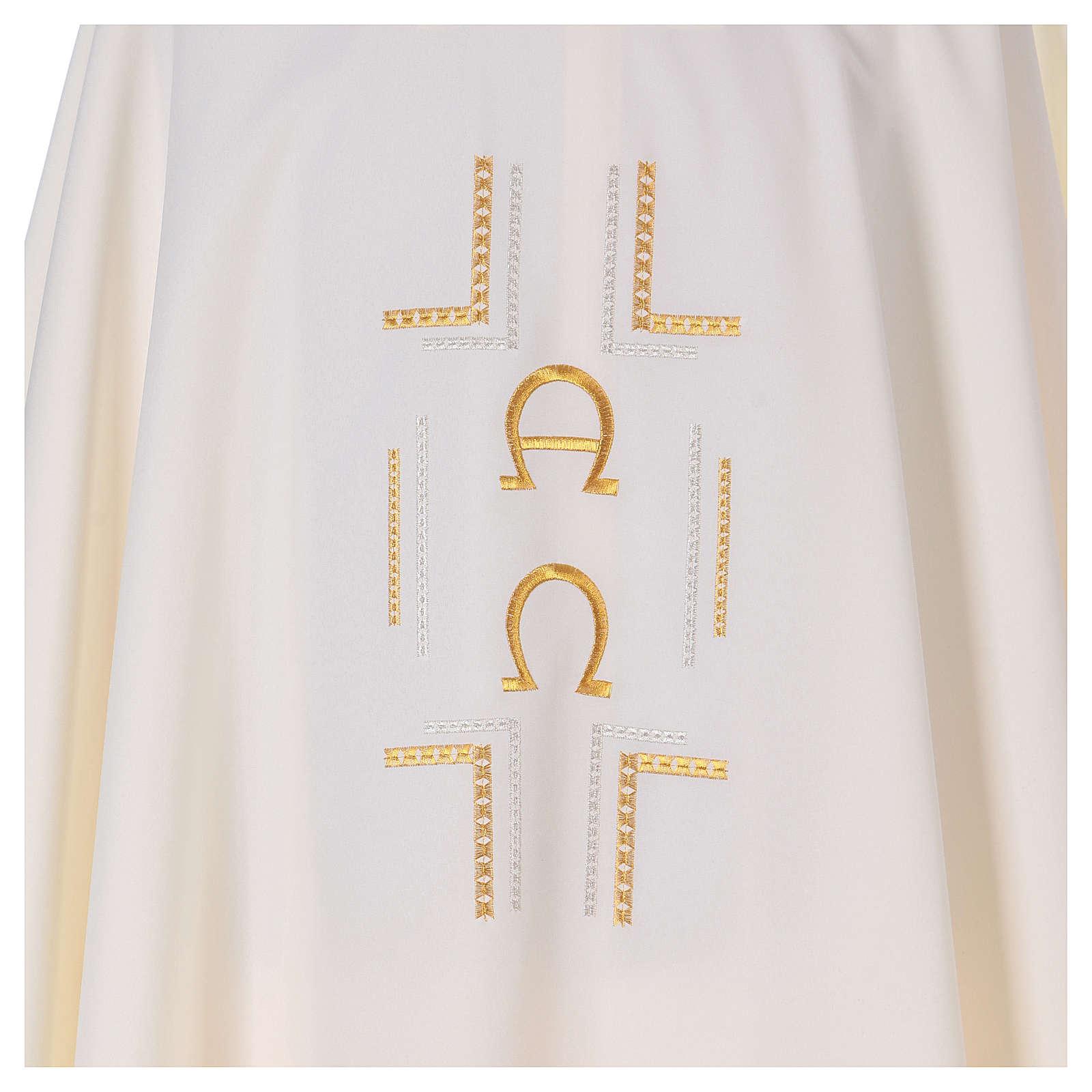Casula 100% poliestere simboli Alfa Omega 4