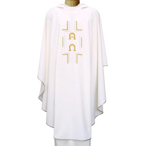 Casula 100% poliestere simboli Alfa Omega 1
