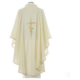 Chasuble broderie épi sur croix en polyester s6