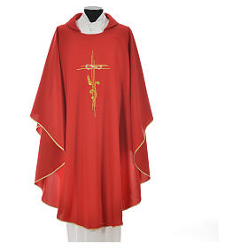 Chasuble broderie épi sur croix en polyester s7