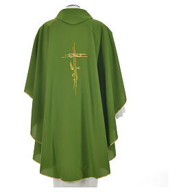 Chasuble broderie épi sur croix en polyester s10