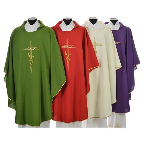 Chasuble broderie épi sur croix en polyester 1