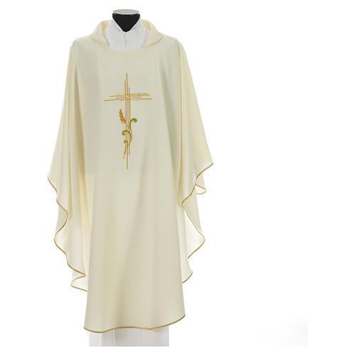 Chasuble broderie épi sur croix en polyester 5