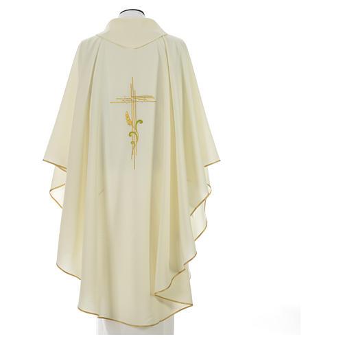 Chasuble broderie épi sur croix en polyester 6