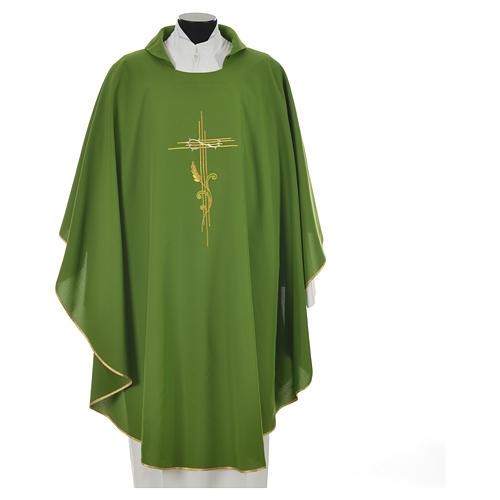 Chasuble broderie épi sur croix en polyester 9