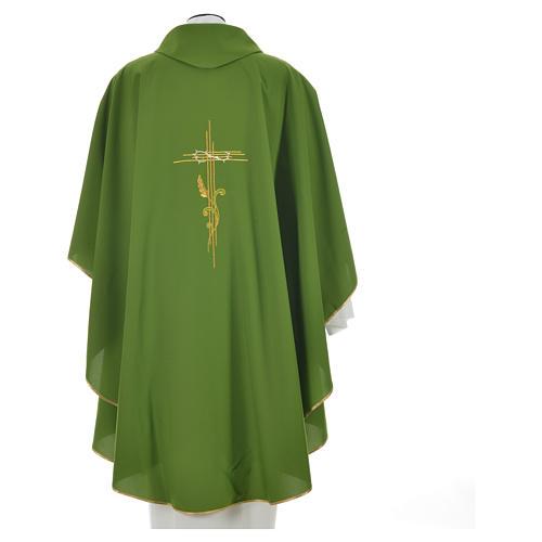Chasuble broderie épi sur croix en polyester 10