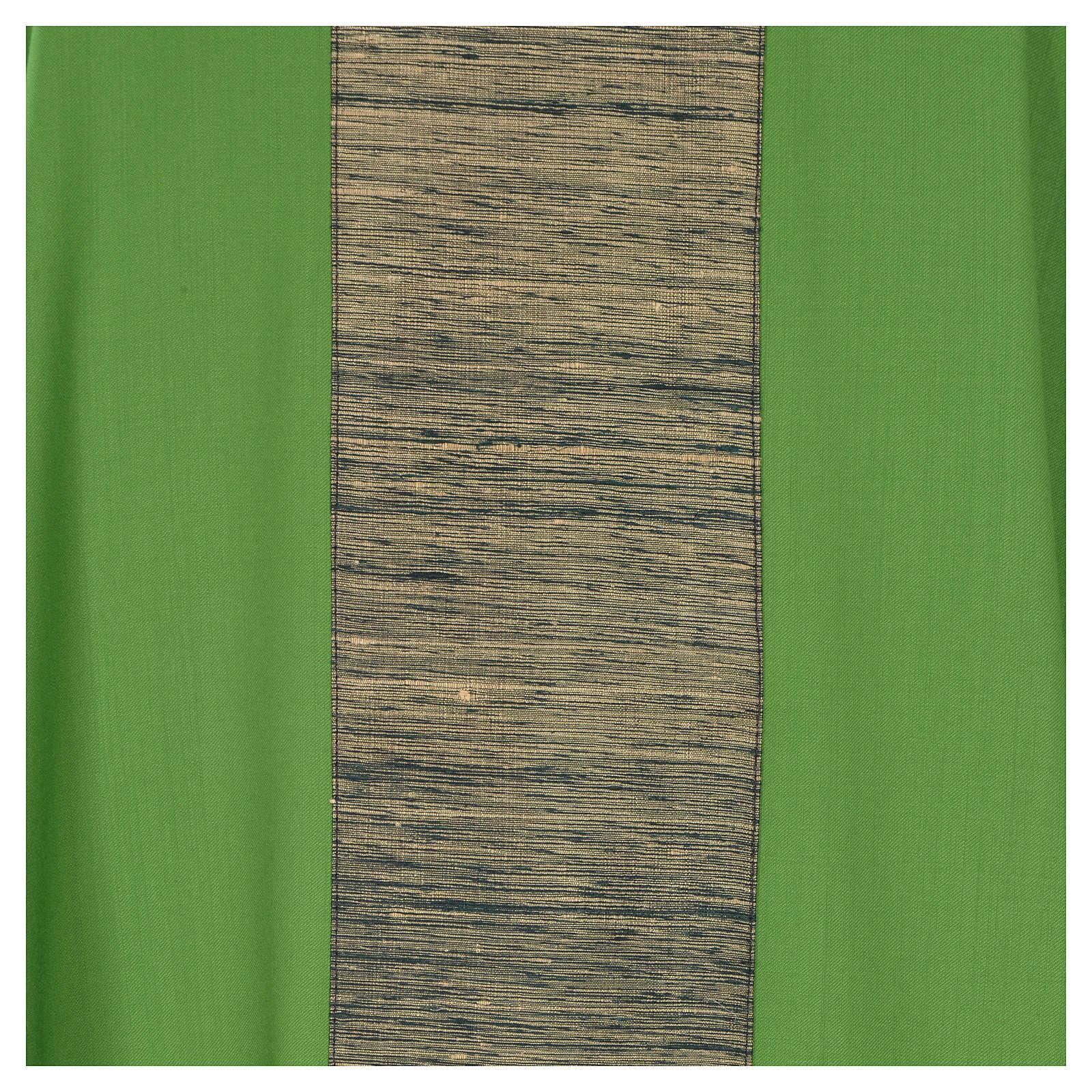 Chasuble 100% laine avec bande appliquée 100% soie 4