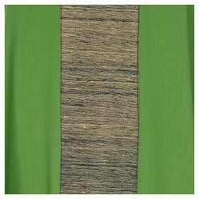 Chasuble 100% laine avec bande appliquée 100% soie s7