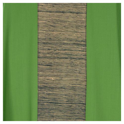 Chasuble 100% laine avec bande appliquée 100% soie 7