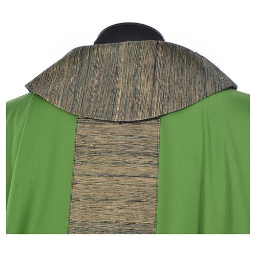 Chasuble 100% laine avec bande appliquée 100% soie 8