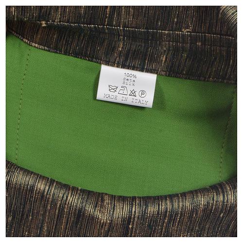 Chasuble 100% laine avec bande appliquée 100% soie 10