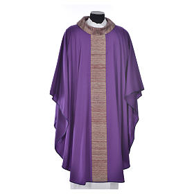 Chasuble in pure wool with orphrey in pure silk s3