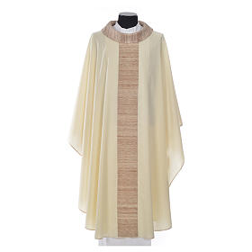 Chasuble in pure wool with orphrey in pure silk s4