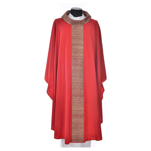 Chasuble in pure wool with orphrey in pure silk 5