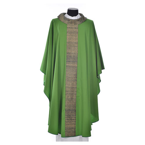 Chasuble in pure wool with orphrey in pure silk 6