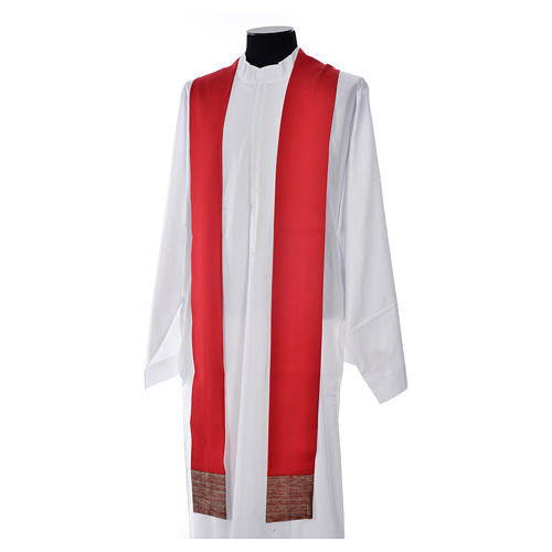 Chasuble in pure wool with orphrey in pure silk 9