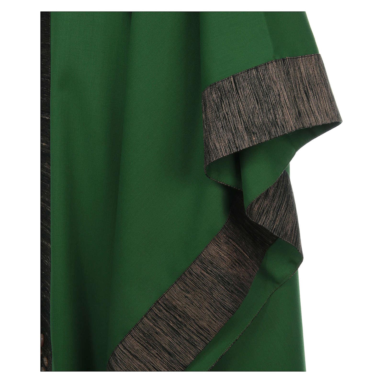 Casula 100% pura lana con riporto 100% pura seta 16 pietre di ag 4