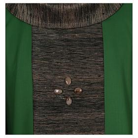 Casula 100% pura lana con riporto 100% pura seta 16 pietre di ag s2