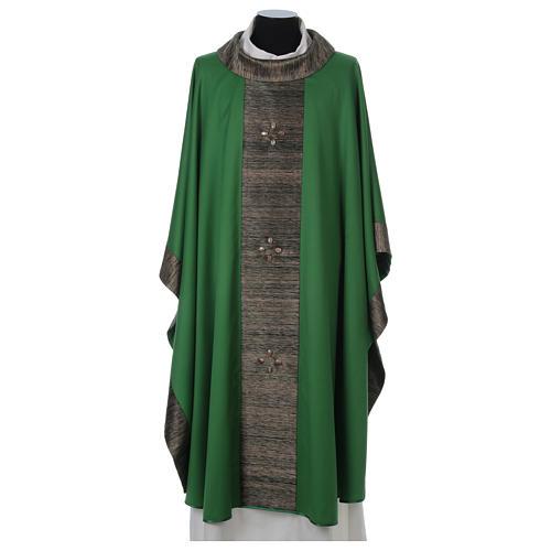 Casula 100% pura lana con riporto 100% pura seta 16 pietre di ag 1