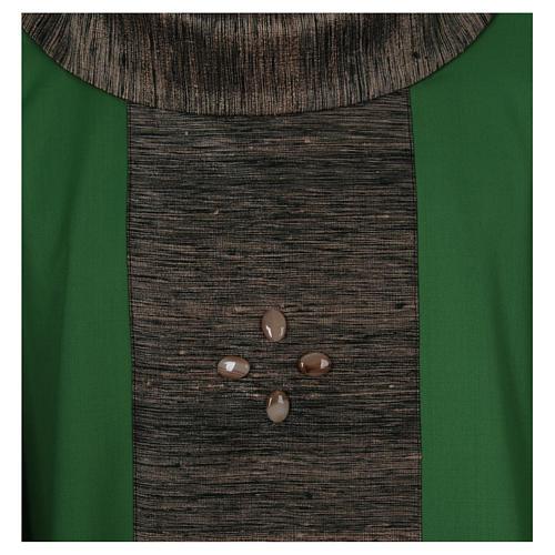 Casula 100% pura lana con riporto 100% pura seta 16 pietre di ag 2