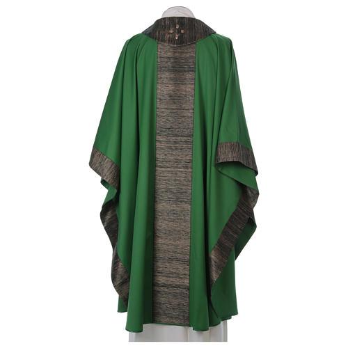 Casula 100% pura lana con riporto 100% pura seta 16 pietre di ag 5