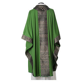 Chasuble in wool with orphrey in silk and sardonyx agate stones s3
