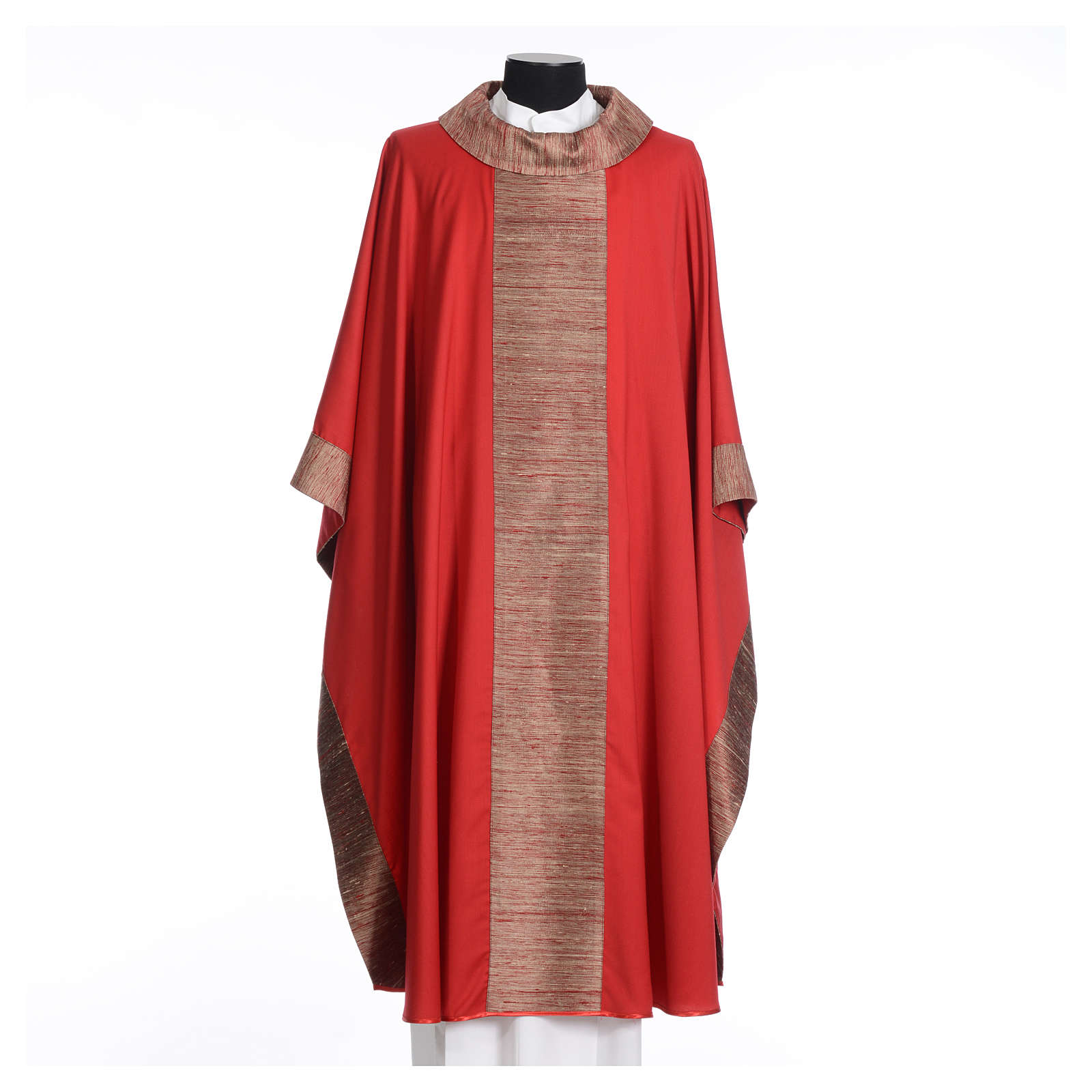 Chasuble in pure wool with orphrey in pure silk 4