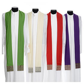 Catholic Chasuble in pure wool with orphrey in pure silk s9