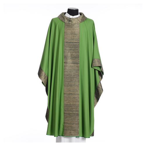 Catholic Chasuble in pure wool with orphrey in pure silk 3