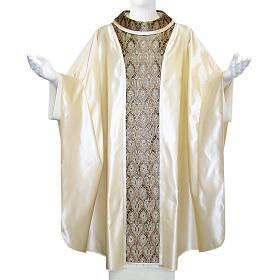 Casulla 100% seda pura natural, decoración seda Jacquard s1