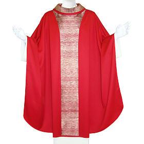 Casulla 100% lana, decoración central en 100% seda s1