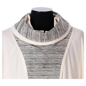 Chasuble 100% laine avec bande centrale et collet 100% soie s2