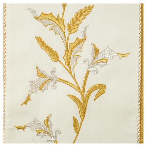 Casula oro 100% pura lana vergine doppio ritorto ricamo fascione 5