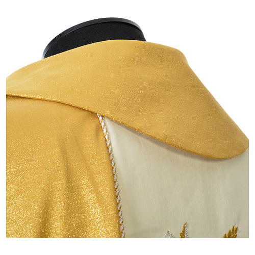 Casula oro 100% pura lana vergine doppio ritorto ricamo fascione 6