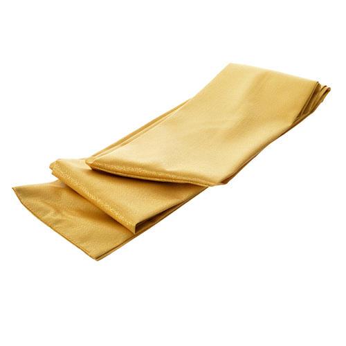 Casula oro 100% pura lana vergine doppio ritorto ricamo fascione 7