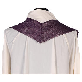 Chasuble Chi-Rho symbol, 100% shiny pure new wool s7